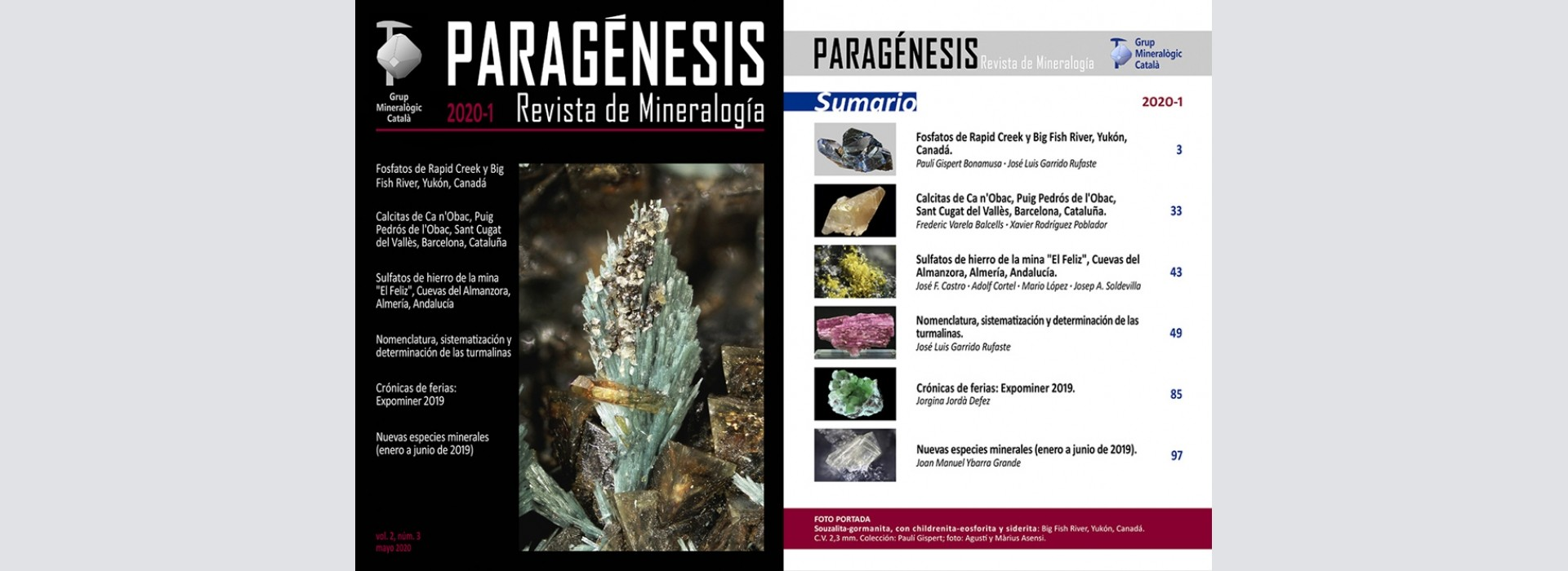 Nova revista Mineralogistes de Catalunya 2020-1 i Paragénesis 2020-1