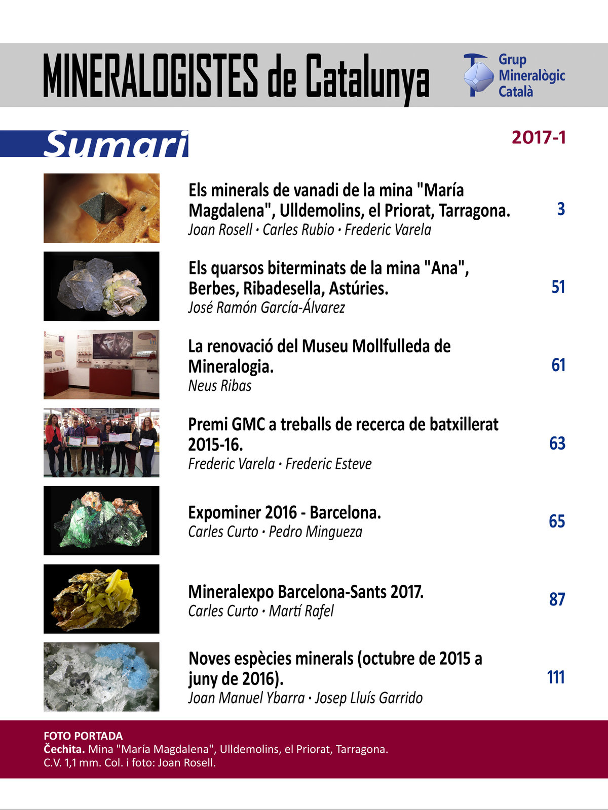 <em>Mineralogistes</em> (2017-1) - Sumari