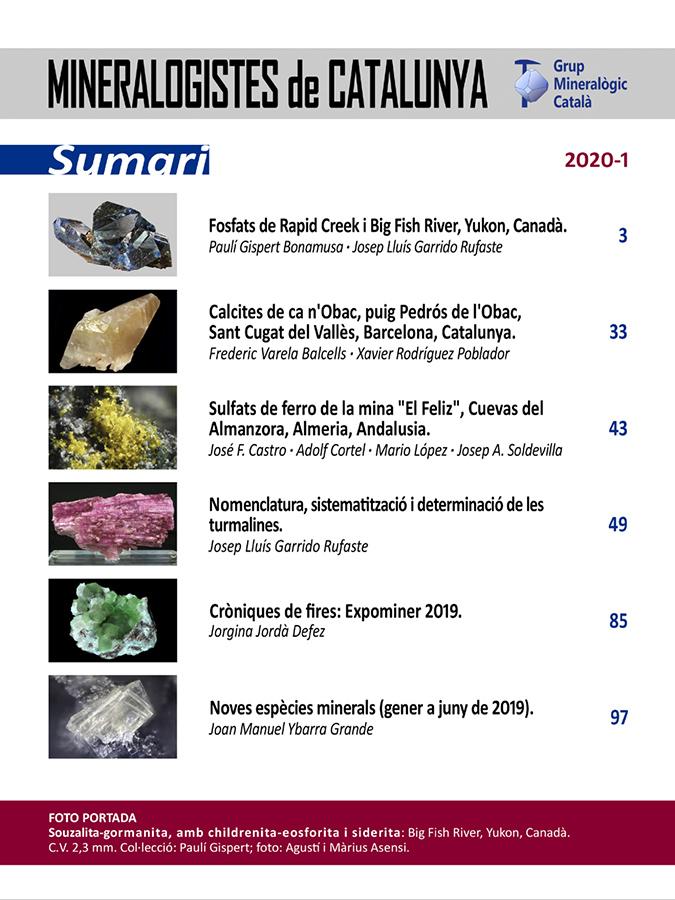 <em>Mineralogistes</em> (2020-1) - Sumari