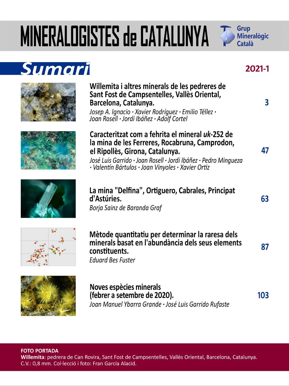 <em>Mineralogistes</em> (2021-1) - Sumari